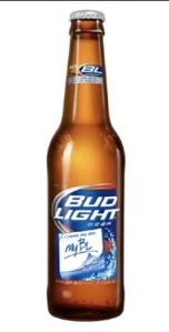 Image of Bud Light write-on bottle