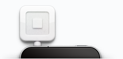 Picture of credit card reader attached to mobile phone