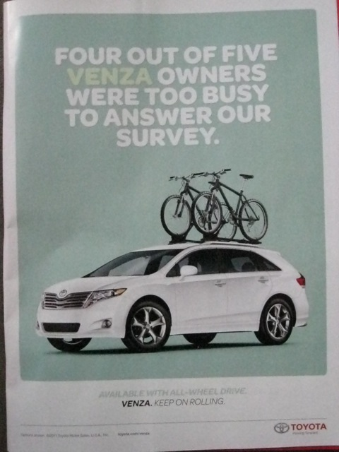 Copy of Venza print ad