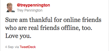 Trey Pennington's final tweet