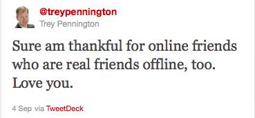 Trey Pennington's final tweet