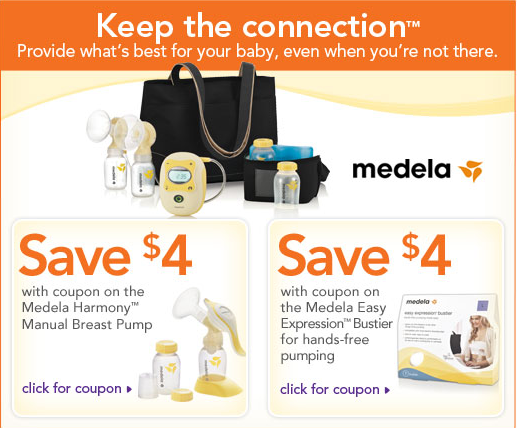 E-mail from BabiesRUs about breast pumps on sale