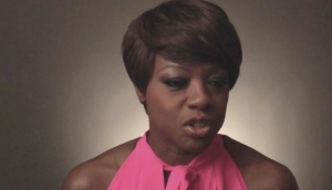 Snaphot of Viola Davis interview at Oscars