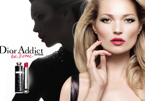 Dior Addict Extreme Lipstick ad with Kate Moss