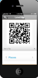 Screenshot of QR code on mobile phone