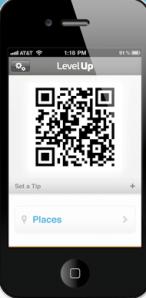 Screenshot of QR code on mobile phone