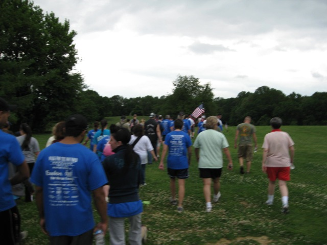 Walkers in 2010 Walk for the Wounded