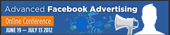 Banner ad for the Advanced Facebook Ad Conference 2012