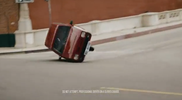 Cheap car flipping over