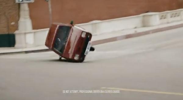 Cheap car flipping over
