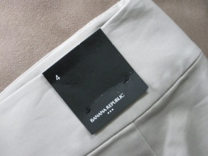 Banana Republic tag on a skirt