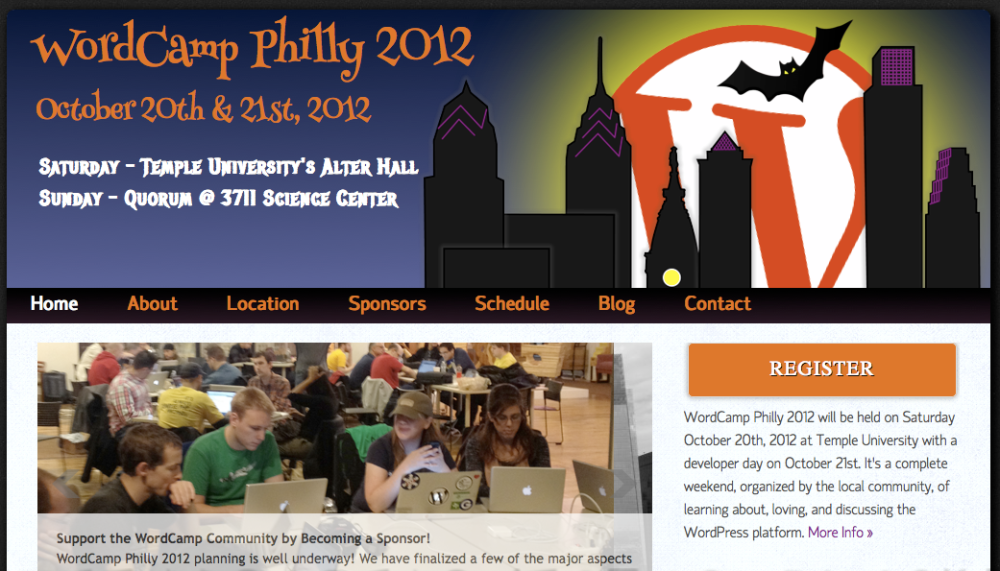 Philly WordCamp website