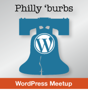 Philly Burbs WordPress Meetup logo designed by Liam Dempsey