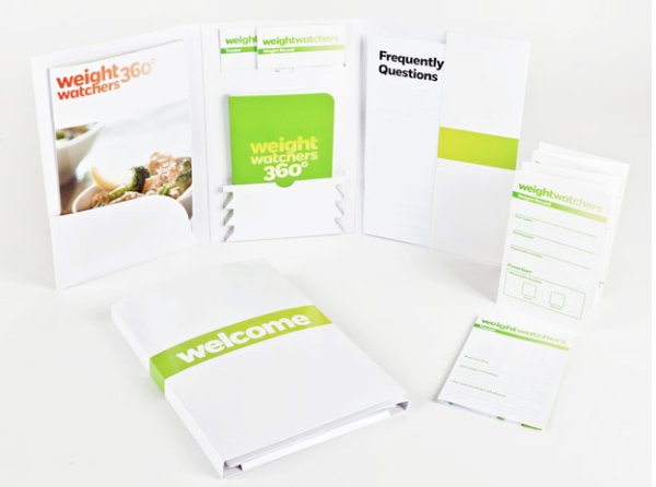 Welcome kit materials with WW logo stacked