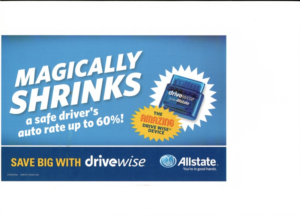 Allstate DriveWise postcard