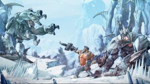 Borderlands video game scene, cartoon-like