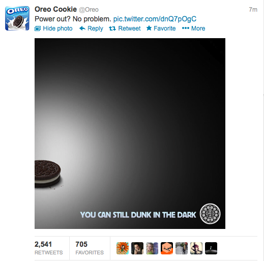 Oreo tweets during blackout can still dunk in the dark