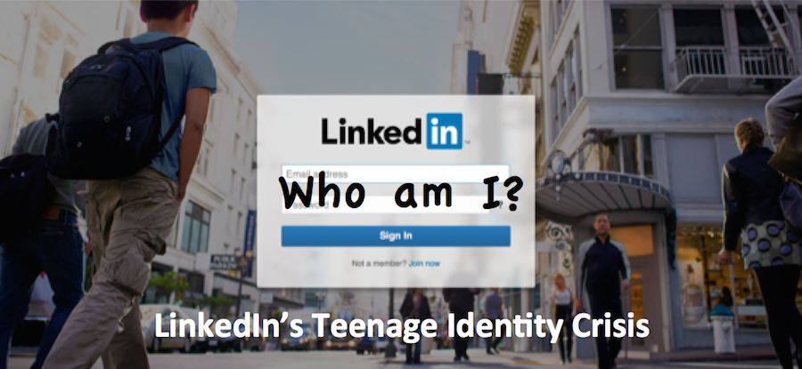 LinkedIn sign-in page with Who Am I?