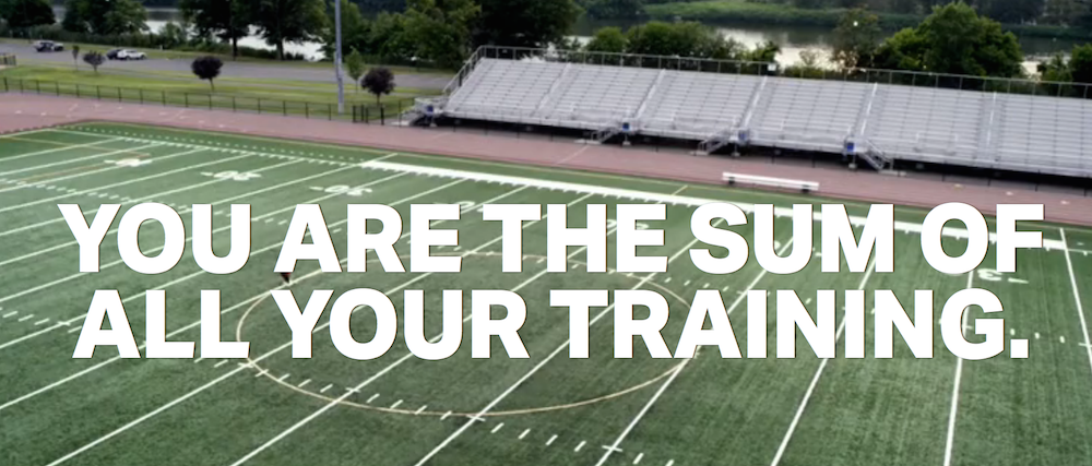 You are the sum of all your training photo