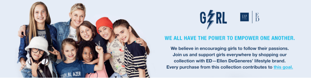 GapKids promotion with Ellen D.