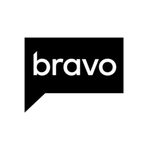 Bravo logo white lettering on black