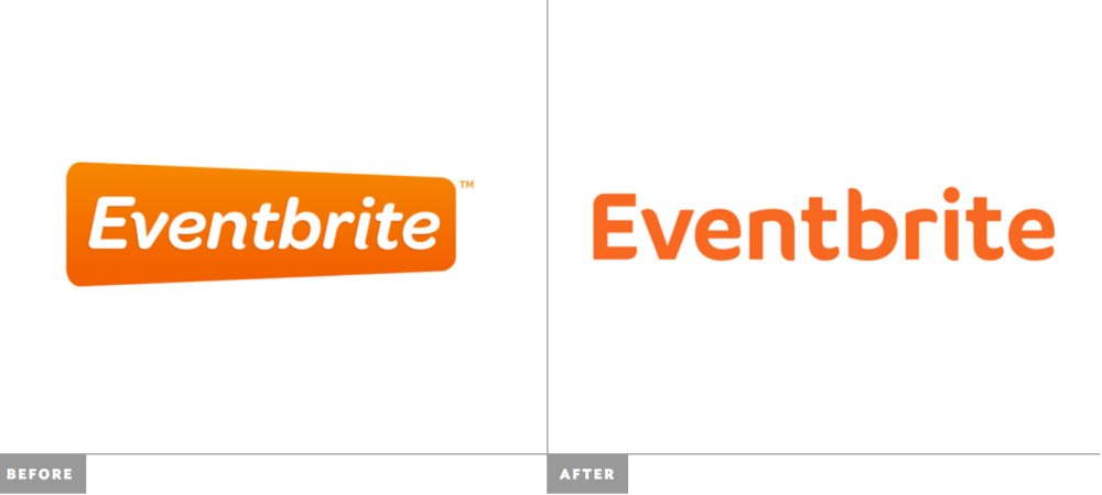 Eventbrite before and after logos